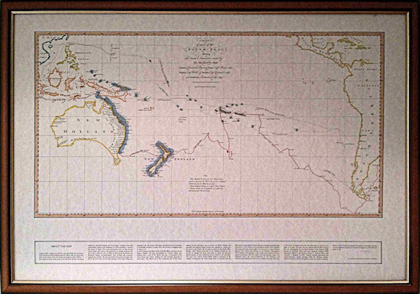Map in Brown Frame